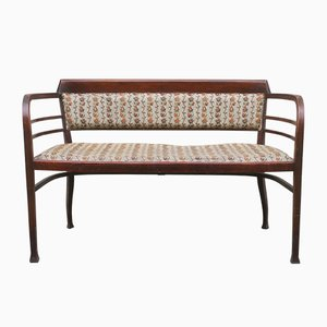 Antique Vienna Secession Bentwood Settee Bench by Otto Wagner for Thonet, Austria, 1905