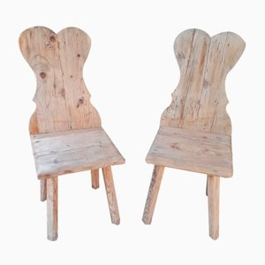 Rustic Mountain Chairs, 1970s, Set of 2