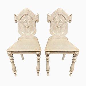 Antike Lackierte Stühle, 1870er, 2er Set
