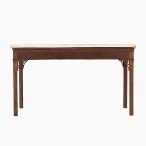 18th Century George III English Oak Console Table