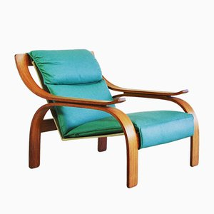 Green Leather Armchairs by Marco Zanuso for Arflex, 1964, Set of 2