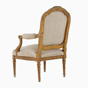 19th Century French Carved Wooden Armchair