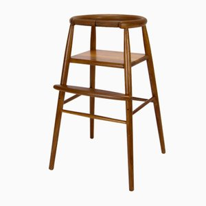 Danish Teak Model 115 Childrens High Chair by Nanna Ditzel for Trip Trap, 1970s