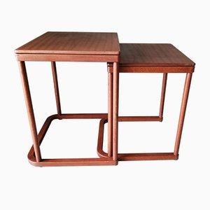 Tavolini ad incastro di Josef Hoffmann per Thonet Germany, anni '80