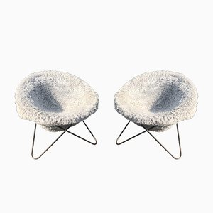 French Circle Chair by Jean Royere, 1950s