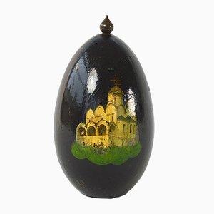 Antikes Bemaltes Ei Ornament