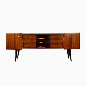 Mid-Century Italian Walnut, Beech & Brass Sideboard, 1960s