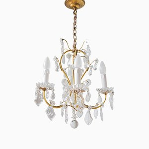 Vintage French Crystal Chandelier, 1930s