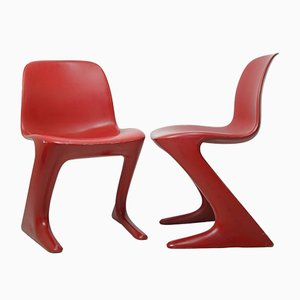 Kangaroo Chairs by Ernst Moeckl for VEB Petrochemisches Kombinat Schwedt, 1960s, Set of 2