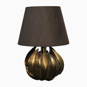 Messing Tischlampe von Maison Jansen, 1970er