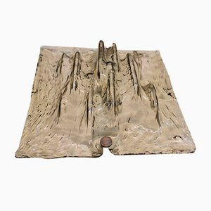 Applique Murale Minimaliste Sculpturale en Verre Murano par Toni Zuccheri pour Venini, 1960s