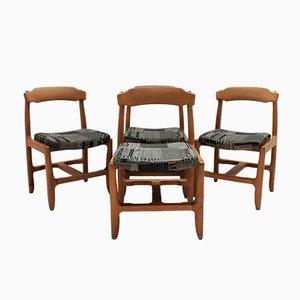 Eichenholz Esszimmerstühle von Guillerme et Chambron für Votre Maison, 1970er, 4er Set