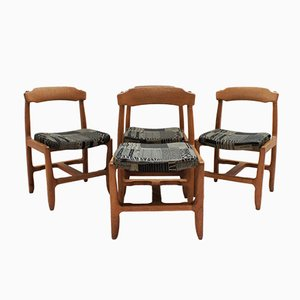 Oak Dining Chairs by Guillerme et Chambron for Votre Maison, 1970s, Set of 4