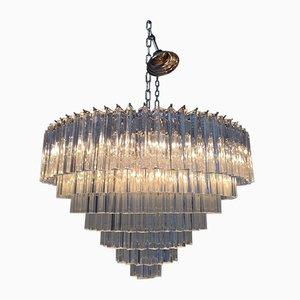 Lámpara de araña Sputnik de cristal de Murano Triedro grande de Italian Light Design