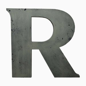 Vintage Letter R Sign, 1960s
