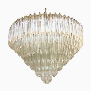 Lámpara de araña Quadrupro Sputnik grande de cristal de Murano de Italian Light Design
