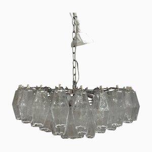 Lámpara de araña Kromo Poliedro de cristal transparente de Italian Light Design