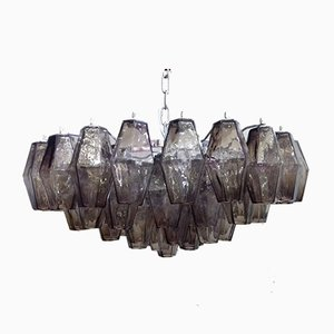 Kromo Murano Glass Poliedro Chandelier from Italian Light Design
