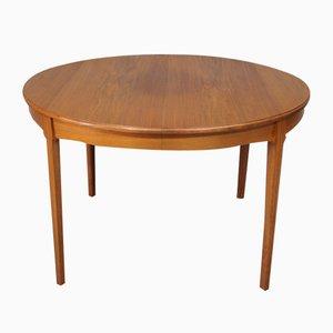 Large Scandinavian Extendable Teak Dining Table, 1960s