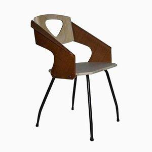 Chaise Vintage par Carlo Ratti pour Industria Legni Curvi