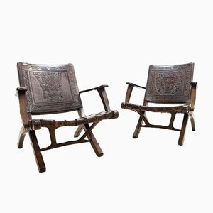 Folding Chairs by Angel I. Pazmino for Muebles de Estilo, 1960s, Set of 2