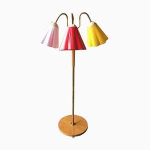 Schwedische Stehlampe mit 3 Kunststoff Schirmen, 1960er