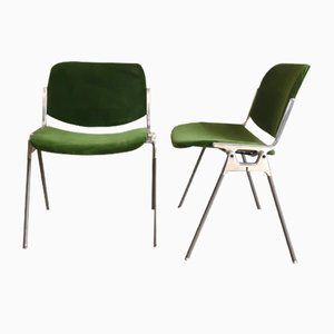 Swivel & Side Chairs by Giancarlo Piretti for Castelli / Anonima Castelli, 1960s, Set of 4