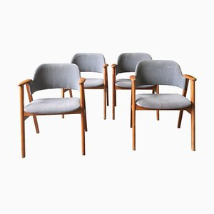 Swedish Teak Armchairs, 1960s, Set of 4
