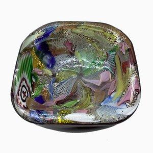 Mid-Century Murano Glass Ashtray by Arte Vetraria Muranese, 1950s