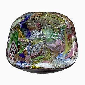 Mid-Century Murano Glass Ashtray by Arte Vetraria Muranese, 1950s