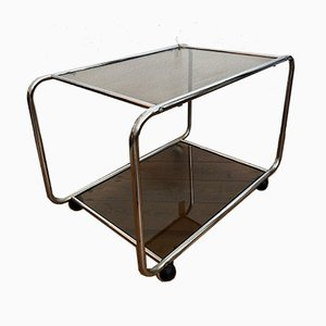 Bar Trolley in Chrome with 2 Glass Plates, 1960s