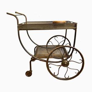 Swedish Brass Bar Cart by Josef Frank for Svenskt Tenn, 1930s