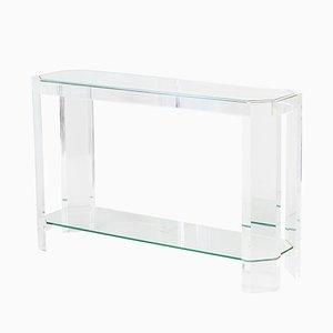 Konsolentisch aus transparentem Plexiglas, 1970er