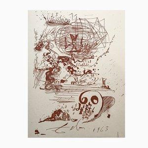 Gravure À L'eau Forte Engraving by Salvador Dali, 1970s