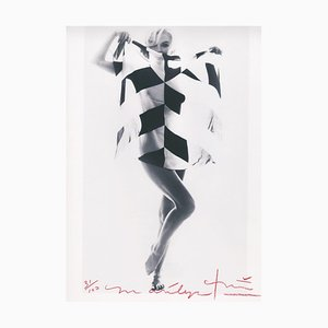 Marilyn in the Black and White Scarf by Bert Stern, 2012