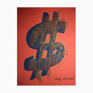 Dollar Sign Red by Andy Warhol, 1981