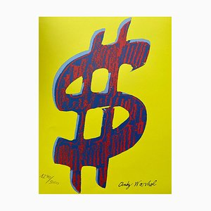 Dollar Sign Red & Yellow by Andy Warhol, 1984