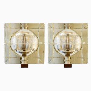 Glas Cubosfera Wandleuchten von Alessandro Mendini, 1960er, 2er Set