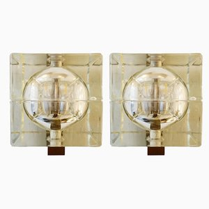 Glass Cubosfera Sconces by Alessandro Mendini, 1960s, Set of 2