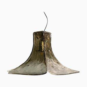 Lampada a sospensione in vetro di Murano di Carlo Nason per AV Mazzega, anni '60