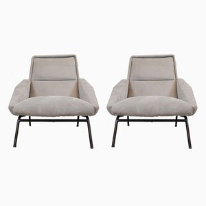 French Lounge Chairs by Gérard Guermonprez, 1950s, Set of 2