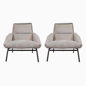 French Lounge Chairs by Gérard Guermonprez, 1950s, Set of 2