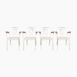 Chaises de Jardin Vintage en Métal, Set de 4