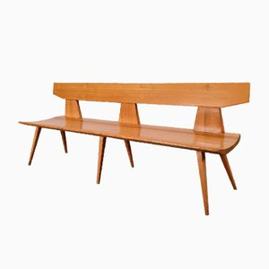 Bench in Pine Wood by Jacob Kielland-Brandt for I. Christiansen, 1960s
