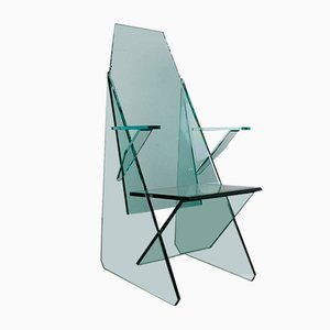 Glass Chair by Theo Valk for Xallisz, 1980s