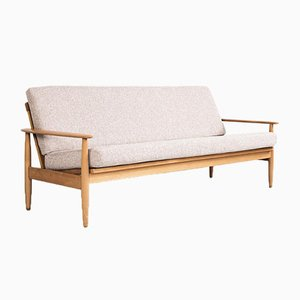 Mid-Century Danish Sofa in Beech and Fabric, 1960s