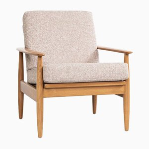 Mid-Century Danish Easy Chair in Beech and Fabric, 1960s