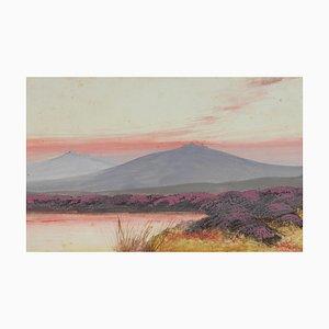 Peinture de Paysage de Dartmoor, Angleterre, 1911