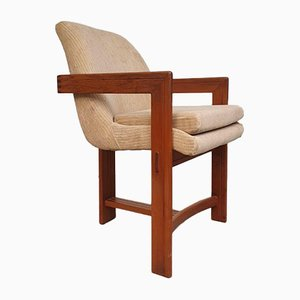 Mid-Century Scandinavian T-Back 3-Leg Dining Chairs, Set of 4