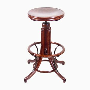 High Swivel Stool by Thonet for Fischel, 1920s